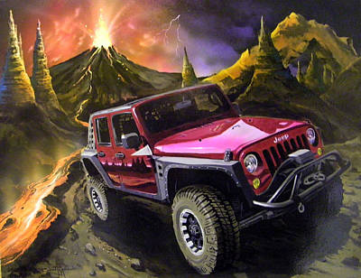 Painting - Extreme Off Roading by Richard Mordecki