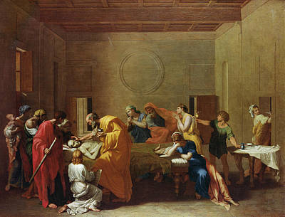 Extreme Unction, C.1637-40 Oil On Canvas Art Print by Nicolas Poussin