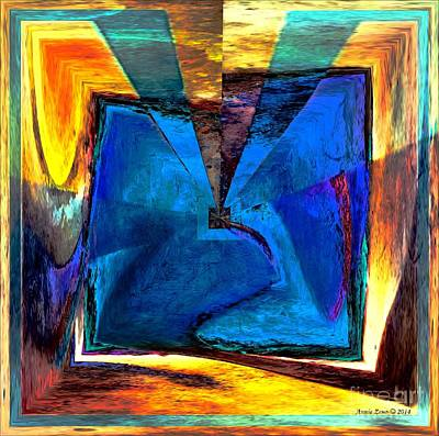 Digital Art - Extroversion Abstract Art by Annie Zeno
