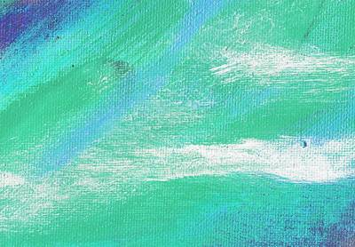 Exuberant Aqua Blue Valley Art Print by L J Smith