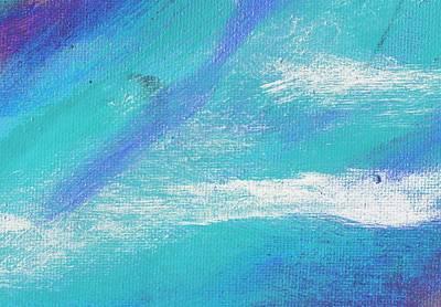Exuberant Blue Art Print by L J Smith