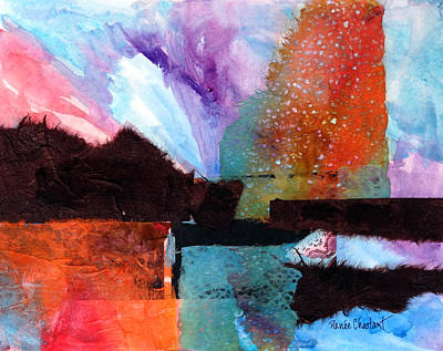 Cruciform Painting - Exuberant by Renee Chastant