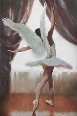 Ballerina Painting - Exultation by Anna Rose Bain