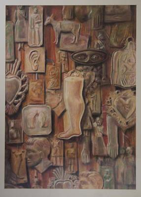 Exvotos  Art Print by Paez  Antonio