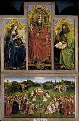 Agnus Photograph - Eyck, Jan Van 1390-1441 Eyck, Hubert by Everett
