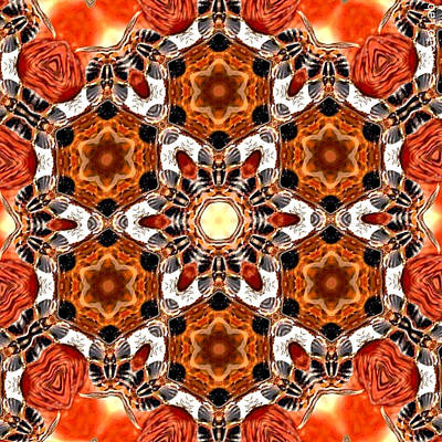 Digital Art - Eye Bee Mandala by Karen Buford
