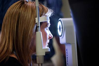 Ophthalmologists Photograph - Eye Biometry Demonstration by Dan Dunkley