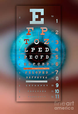 Photograph - Eye Chart by Mike Agliolo