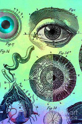 Photograph - Eye Collage by Dennis D Potokar