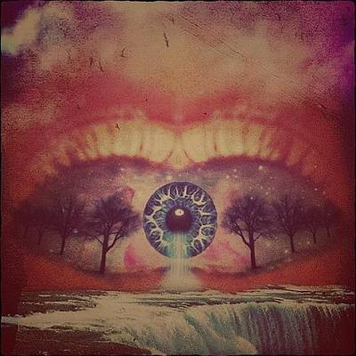 Surrealism Wall Art - Photograph - eye #dropicomobile #filtermania by Tatyanna Spears