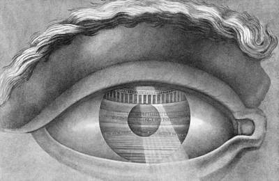 Allegory Drawing - Eye Enclosing The Theatre At Besancon France by Claude Nicolas Ledoux
