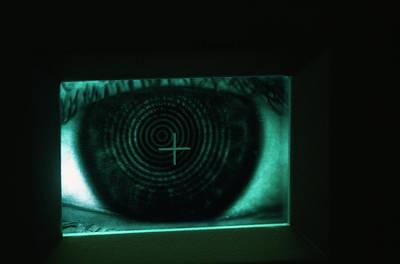 Topography Wall Art - Photograph - Eye Examination by Mauro Fermariello/science Photo Library