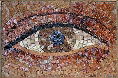 Mosaic Tesserae Tiles Photograph - Eye For Beauty by Sonali Gangane