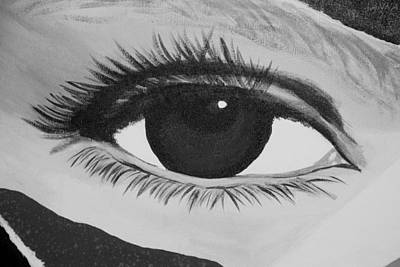 Photograph - Eye Has It 1 In Black And White by Rob Hans