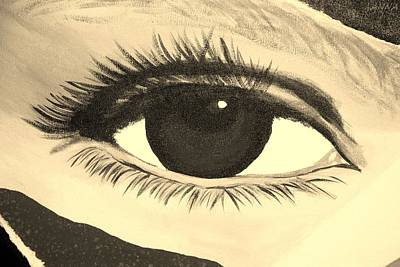 Photograph - Eye Has It 1 In Sepia by Rob Hans