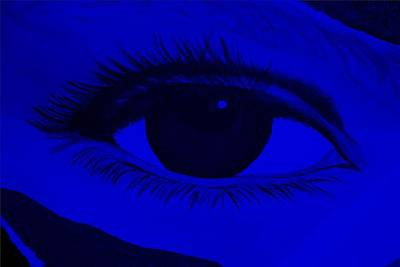Photograph - Eye Has It In Blue by Rob Hans