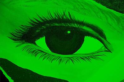 Photograph - Eye Has It In Green by Rob Hans