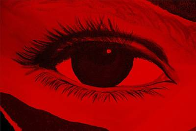 Photograph - Eye Has It In Red by Rob Hans