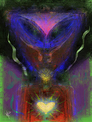 Science Fiction Mixed Media - Eye Heart Aliens by Russell Pierce