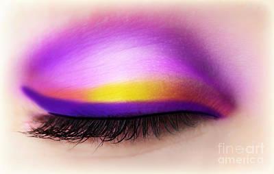 Eye Makeup Art Print by Anna Om