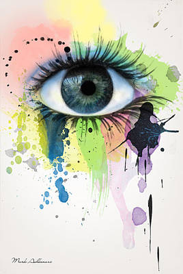 Alcohol Ink Wall Art - Painting - eye by Mark Ashkenazi