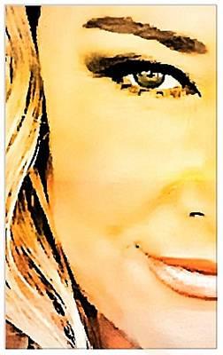 Digital Art - Eye Of A Woman by Carrie OBrien Sibley