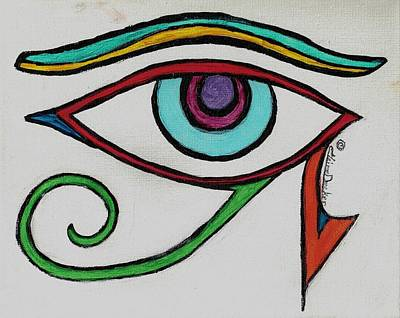 Horus Painting - Eye Of Horus by Claire Decker
