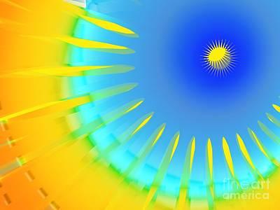 Sun Rays Mixed Media - Eye Of Sun by Dana Hermanova