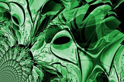 Digital Art - Eye Of The Crystal Dragon by Maria Urso