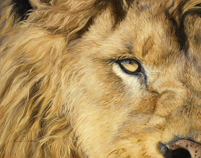 Male Cat Painting - Eye Of The Lion by Lucie Bilodeau