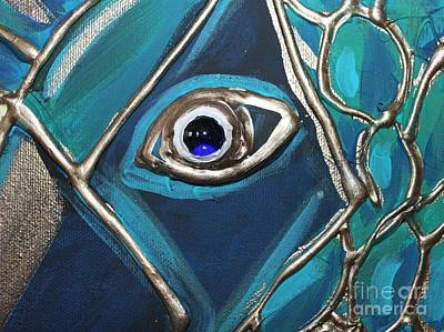 Eye Of The Peacock Art Print by Cynthia Snyder