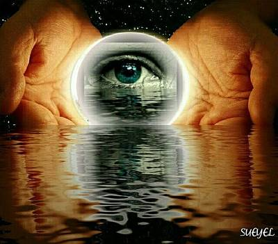 Digital Art - Eye Of The Universe by Sueyel Grace