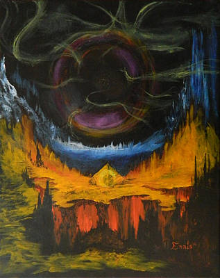 Painting - Eye Of The Void by Christophe Ennis