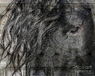 Friesian Digital Art - Eye Of The World by Judy Wood