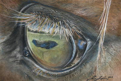 Painting - Eye On Greener Pastures by Rachael Curry