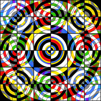 Abstract Pop Digital Art - Eye On Target by Mike McGlothlen