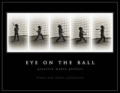 Photograph - Eye On The Ball - Black Background by Greg Jackson