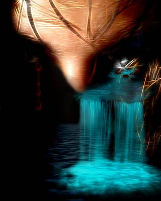 Eye On The Waterfall  Art Print