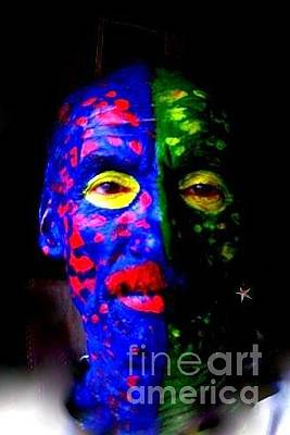 Photograph - Eye See Colors Mardi Gras Hand Painted Face by Michael Hoard