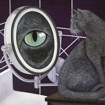 Art Print featuring the painting Eye See You by Karen Zuk Rosenblatt