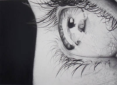 Eye Stipple Art Print