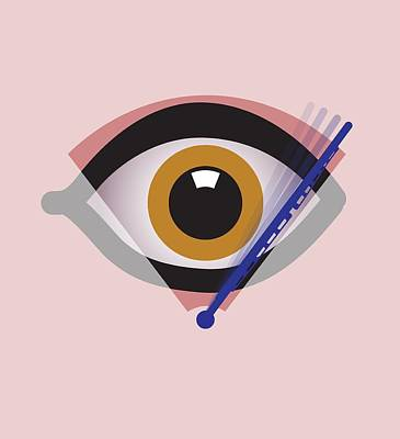 Eye Surgery, Conceptual Artwork Art Print