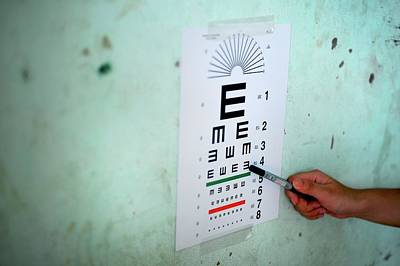 Eye Test During Humanitarian Exercise Art Print by Sara Csurilla