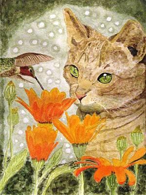 Eye To Eye Art Print by Angela Davies