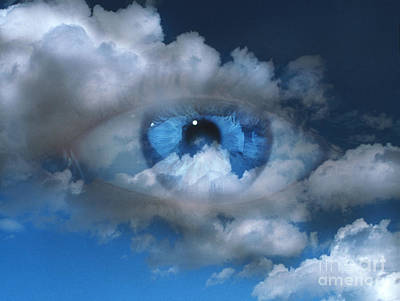 Photograph - Eye With Clouds by Mehau Kulyk