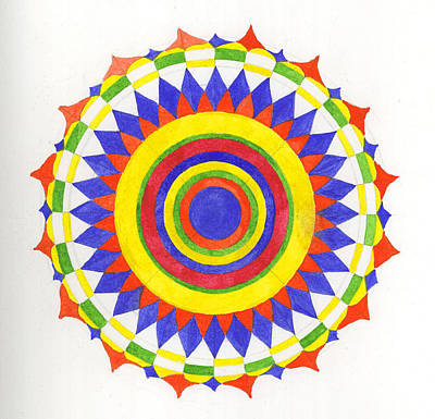 Eye World Mandala Art Print by Silvia Justo Fernandez