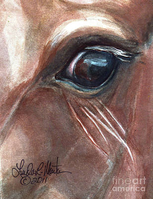 Mustang A Day Challenge Painting - Eyebrow Cat by Linda L Martin