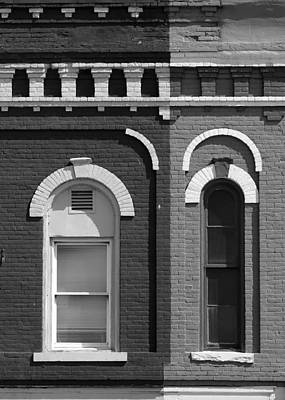Photograph - Eyebrow Windows 10 Black And White by Mary Bedy