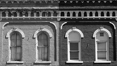 Photograph - Eyebrow Windows 2 Black And White by Mary Bedy