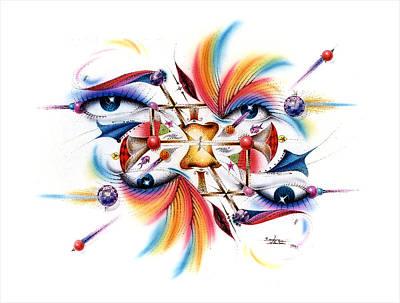 Mixed Media - Eyecolor by Sam Davis Johnson